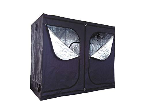 SavingPlus Indoor Grow Light Box Tent Aluminum lined Bud Dark Room for Hydroponic Fan 240X120X200CM