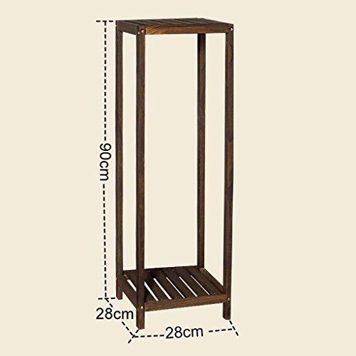 FZN Salon Plancher Balcon Bois Multicouche Fleur Minimaliste siège Moderne Racks de Fleurs en Bois Pots de Fleurs (Taille : 28 * 28 * 90cm)