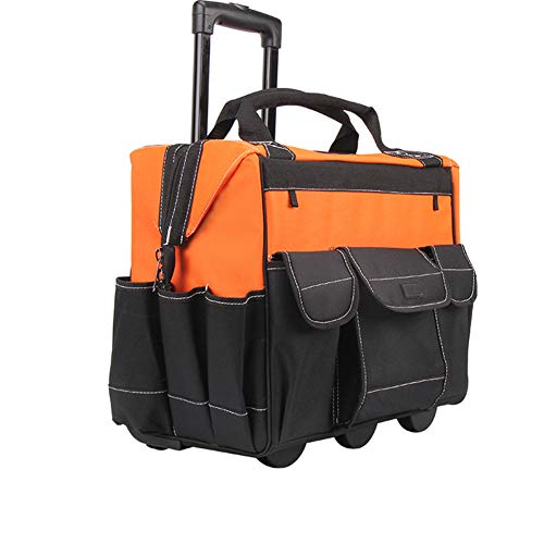 N / A Multifunktionale, hochwertige Lange Stange und Rolltasche mit großem Lager, Griff, Fronttaschendesign, verschleißfestem Hartgewebe und Nietverstärkungstechnologie
