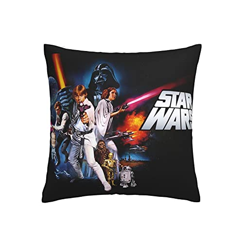 Funda de cojín Star Wars, funda de almohada decorativa para el hogar para hombres/mujeres, sala de estar, dormitorio, sofá, silla, 45 x 45 cm