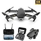 DishyKooker M65 RC Drone avec Caméra 4K HD FPV WiFi Altitude Hold Pliable Réglable RC Quadcopter Selife Drone RC Avion pour Adultes Débutants Jouets