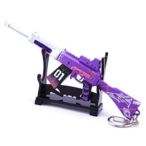 DJIEYU 1/5 Escala Ejército Militar Miniatura Mini S12K Saiga-12 Escopeta Armas Modelo Metal Figura Accesorios Juguete Llavero Die Cast Decoración Juguetes