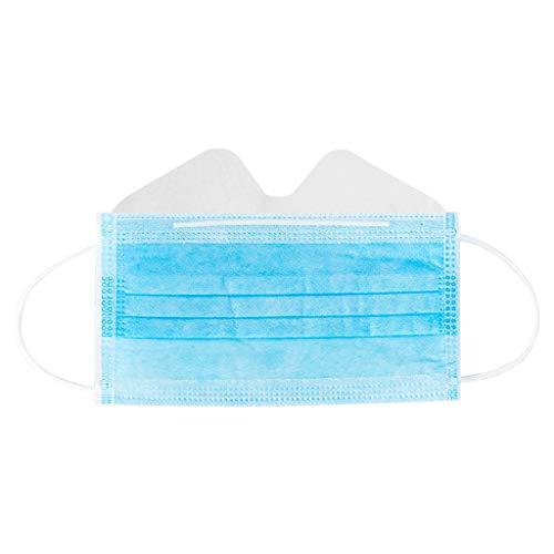 Lulupi 30 Stück Mundschutz Multifunktionstuch Atmungsaktiv Antibeschlag Einweg Gesichtsbedeckung Anti-fog Mund-Nasen Bedeckung Face Bandana Schals