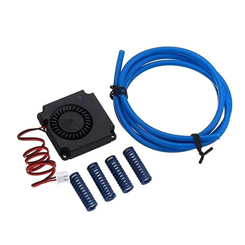 LONGWDS Printer Parts 3D printer accessories, Turbine Blower Cooling Fan 12V 4010 + 4Pcs 8 * 25 Spring + PTEF Tube Kit for 3D Printer printer