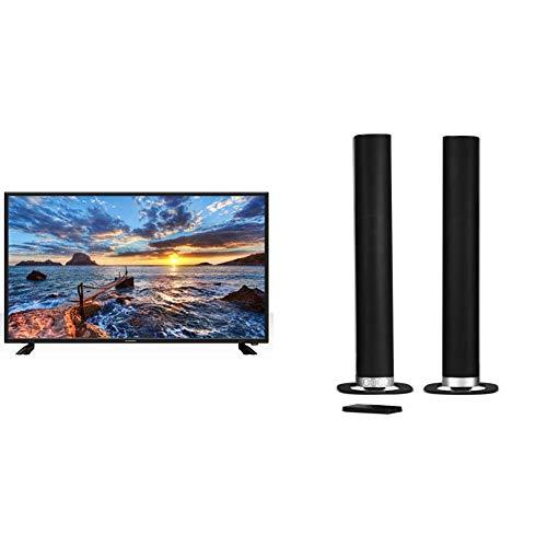 "Schneider TV LED 40"" Full HD, SC-LED40SC510K, HDMI, USB 2.0, 1920x1080p, Sintonizador DVB-T/T2/C, Negra + Barra De Sonido Sc600Snd, Soundbar 2.0, 30W (15Wx2), Bluetooth, HDMI, Subwoofer Integrado"