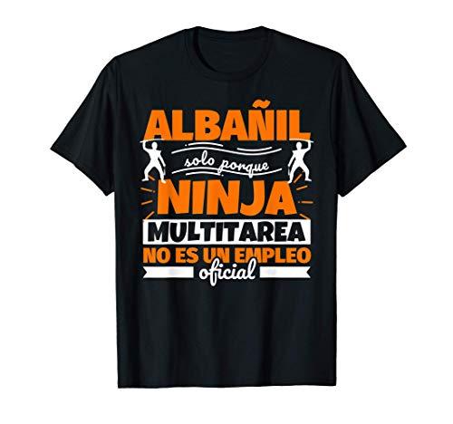 Albañil regalo divertido ninja Camiseta