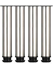 Steel verstelbare poten kastpoten verdikte tafelpoten meubelpoten Roestvrij staal instelbare hoogte 0-15 mm wordt geleverd met roestvrijstalen schroeven