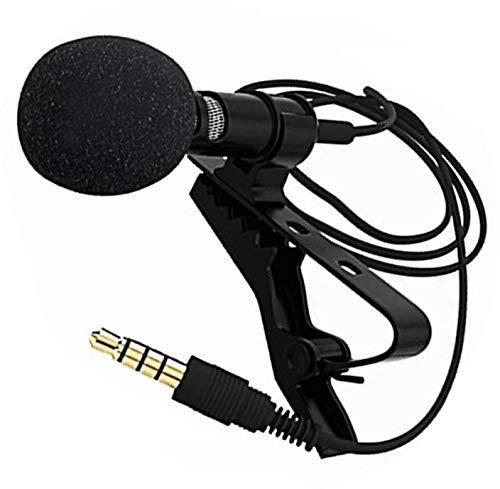 Cabriza YD182 High Sound Mini Collar Mic Noise Cancellations Suitable for You-Tube Videos, Interviews, Blogs Compatible with All Devices (Multi Color)