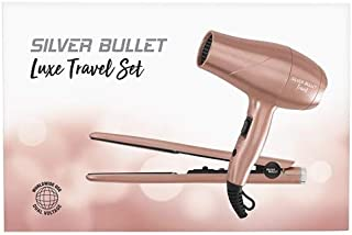 Silver Bullet Luxe Travel Set Dryer 2200W & Straightener, Rose Gold