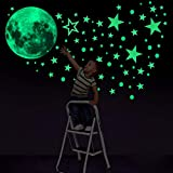 Konsait Luminoso Pegatinas de Pared, 435pcs Puntos Luna y Estrellas Adhesivos Decorativo de Pared Fl...