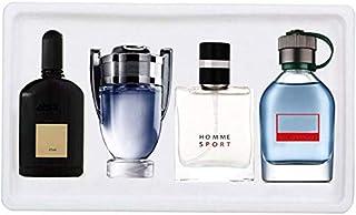 Perfume para hombre Eau de Parfum para él Colonia Perfume para caballero de larga duración de 4 x 25 ml Fragancia portá...