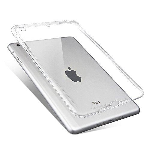 Copmob Smart Cover per iPad Mini 1/2/3 - Custodia Morbido Flessibile Silicone TPU,Posteriore della Protezione di Gomma, Trasparente Retro Copertura per Apple iPad Mini 1/2/3 Tablet,Chiaro