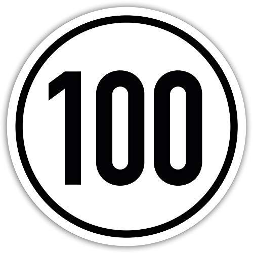 Kavaro 100 kmh Aufkleber Anhänger PKW Tempo 100 Wohnwagen Plakette (20cm)