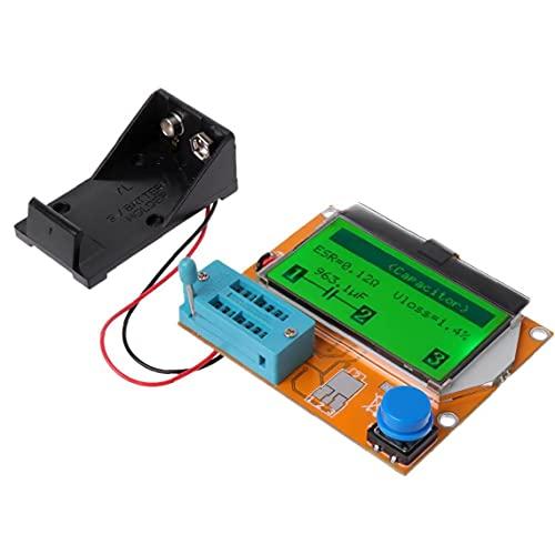 9V LCD digital Probador del transistor T4 LCR-ESR medidor de luz de fondo de la capacitancia 12864 Tester