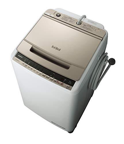 日立 全自動洗濯機 ビートウォッシュ 洗濯容量10kg 本体幅57cm ナイアガラビート洗浄 自動おそうじ BW-V100E N シャンパン