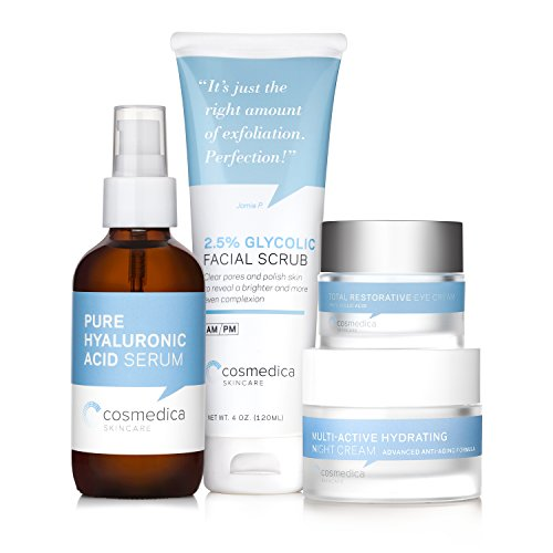 Complete Skincare Kit- Hyaluronic Acid Serum (4 Ounce), Glycolic Facial...