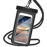 強化版 完全 防水ケース スマホ用 防水携帯ケース タッチ可能iPhone 11 Pro Max X XR XS 8 7 Android 6インチ以下全機種対応 水中撮影 海水浴 お風呂 潜水 温泉 水泳 運動など適用