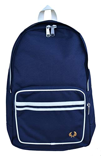 Fred Perry Mochila Twin Tipped Back Pack L6231, azul marino