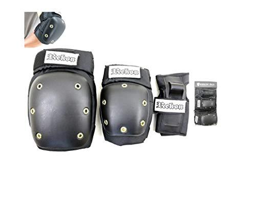 REKON SKATEBOARD PAD/リーコン スケートボード プロテクター パッド3点セット 手首 肘 膝 ガード(Sサイズ)