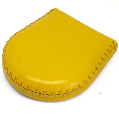 (東京下町工房)本革コインケース 小銭入れ 完全手作り 手縫い仕上げ コンパクト 使いやすさ抜群 (イエロー)