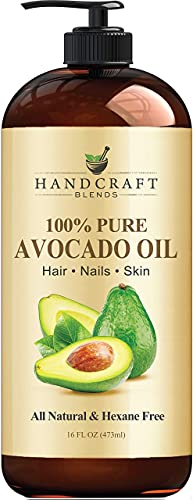 Handcraft Avocado Oil 16 fl. oz - 100% Pure and Natural - Hair Oil - Carrier Oil For Aromatherapy, Massage Oil, Body & Skin Moisturizer & Lubricant - Cold Pressed - Hexane Free