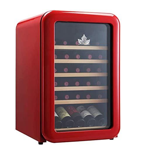 TYUIOYHZX Refrigerador de vino refrigerador vino tinto nevera refrigerador encimera encimera vino refrigerador - independiente compacto mini vino frigorífico capacidad de control digital puerta de vid