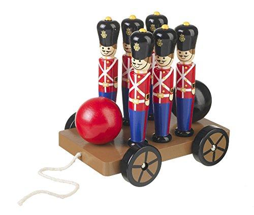 Orange Tree Toys : Jouets à tirer en bois : quilles de soldats