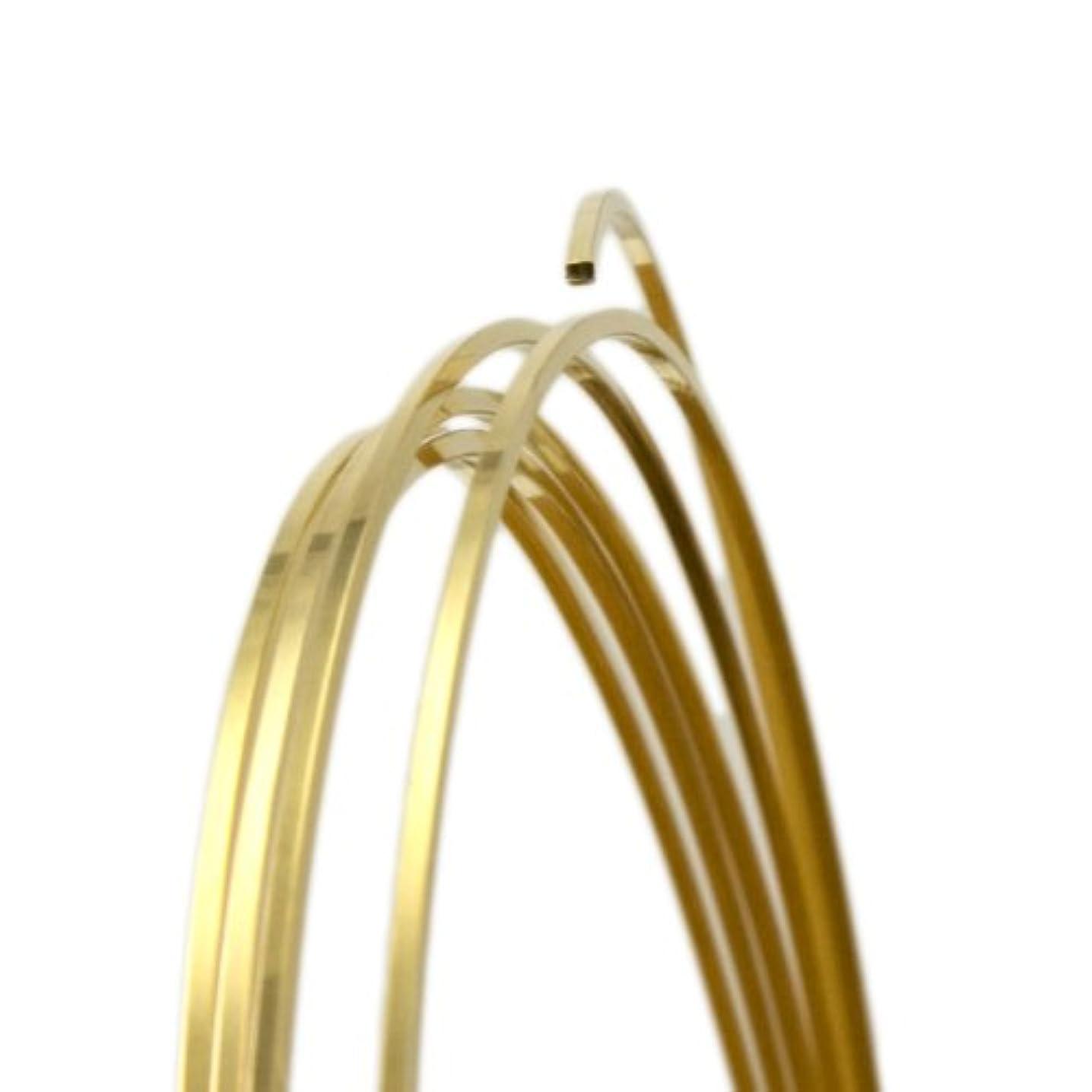 18 Gauge Square Half Hard Yellow Brass Wire - 5FT