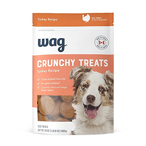 Wag Baked Biscuits Crunchy Dog Treats Turkey 24 oz Now $3.29 (Retail $5.74)