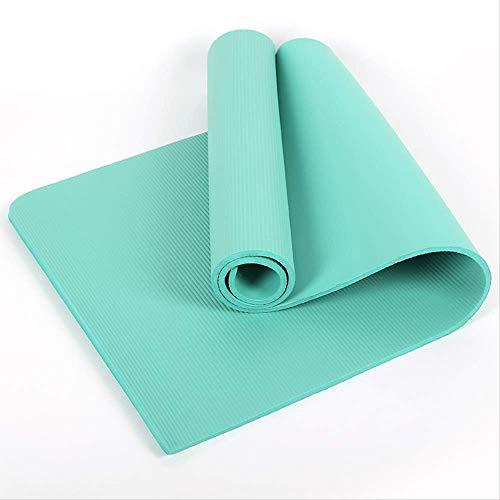 aoligei - Esterilla de yoga (material NBR, 15 mm, elástico, antideslizante), verde
