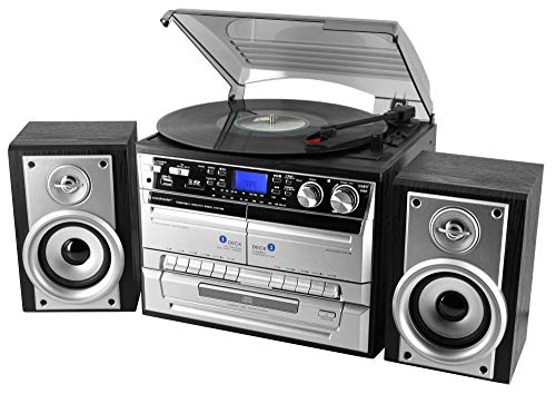Soundmaster MCD 4500 MW FM-radio dubbele cassette CD-MP3 platenspeler USB SD en encodingfunctie