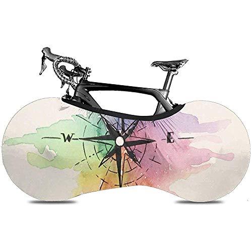 LisaArticles Fiets Wiel Cover,Regenboog Kompas Oude Rome Stijlvolle Fiets Wiel Covers Voor Mountain Of Road Bikes