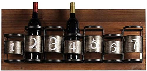 LQBDJPYS LOFT Retro Wandregal 7 Flaschen Weinregal Wandmontage Rack-Wanddekoration Designer Regal Starke Tragfähigkeits Lagerung (Size : 78cm×10.5cm×33cm)