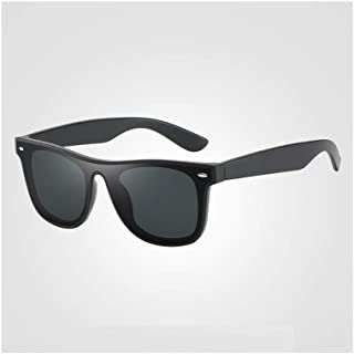 ZMP Ultra-Light Unisex Sunglasses Trend Full Frame Lens Colorful Sunglasses UV400 (Color : Black2)
