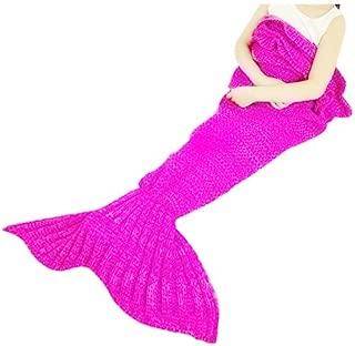 FYHAP Mermaid Blanket, Mermaid Tail Blanket Soft All Seasons,Sofa Quilt Living Room Super Sleeping Bags (Kids Lace Light Pink)