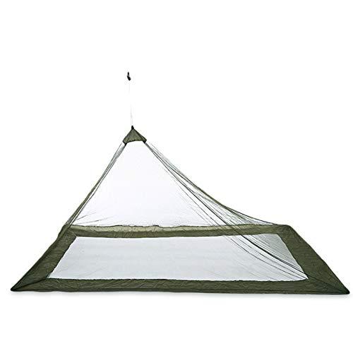 Clenp Mosquitero triángulo, portátil, triángulo, mosquitero, antiinsectos, tienda de viaje, suministros al aire libre, verde ejército