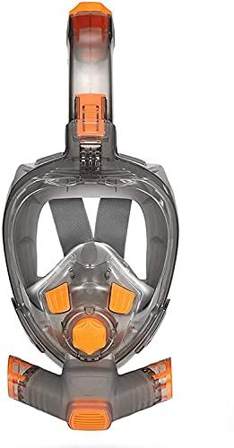 Mascara Buceo Máscaras de Buceo Plegables Cara Completa Máscara de Buceo para jóvenes para jóvenes Anti-Niebla Gafas de Ancho bajo el Agua Vista Amplia Máscara de natación de Snorkel Transparente