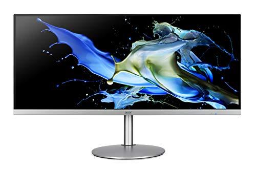 Acer CB342CKsmiip Hzx 34 Inch Ultra-Wide Quad HD Monitor (IPS Panel, FreeSync, 75 Hz, 1 ms, DP, HDMI, USB Hub, Height Adjustable, Silver/Black)
