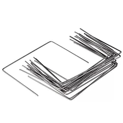 LINWXONGQP Material: Galvaniserad metall trädgårdsskötsel fästankare för markväv 20 st. 25 x 20 cm metall