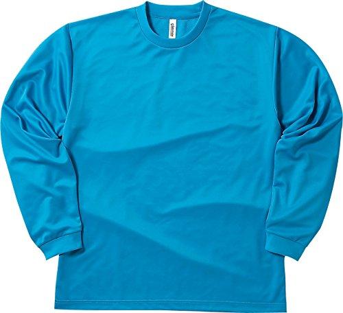 [グリマー] 長袖 4.4オンス ドライ ロングスリーブ Tシャツ [クルーネック] 00304-ALT ボーイズ ターコイズ M (日本サイズM相当)