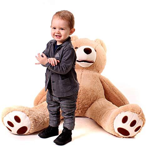 100cm Teddybär Groß - Riesen Teddybären - Baby Kuscheltiere Riesen Teddy - Kuscheltier Für Babys - Großer Teddy Bär - Geschenk Freundin, Geschenkideen Zum Geburtstag, Geschenke Zum Jahrestag – Braun
