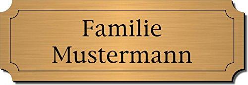 Türschild, Klingelschild, Namensschild, Briefkastenschild, Pokalschild, Typ:Messing 401-03 - 120x40 mm