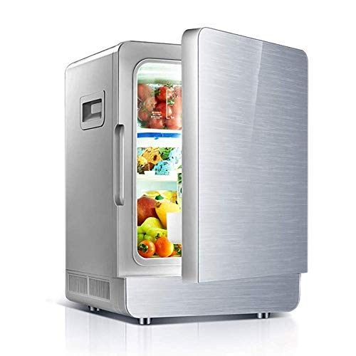Great Price! SLKXN Car Refrigerator, Dual-Use Car, Portable Mini Dormitory Small Refrigerator 12V / 220V Heating and Cooling Box, 20L