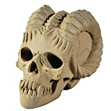 Myard Deluxe Demon Fire Pit Skull Gas Log for Natural Gas/Liquid Propane Fireplace or Fire Pit Halloween Decor (Qty 3, Gray)