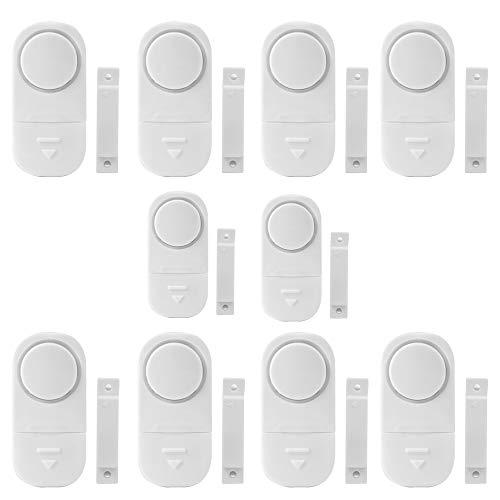 KADDGN Tür-Fenster-Alarm, Fenster Alarm-Sensor, super laut 80dB, für Lagerhaus RV Sicherheits-Tür-Fenster-Warnung Satz von 10