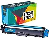 Do it wiser TN241 TN245 Cartuchos de Tóner Compatibles para Brother DCP-9020CDW DCP-9015CDW DCP-9022CDW MFC-9330CDW MFC-9340CDW MFC-9140CDN MFC-9332CDW HL-3140CW HL-3150CDW HL-3170CDW (Cian)