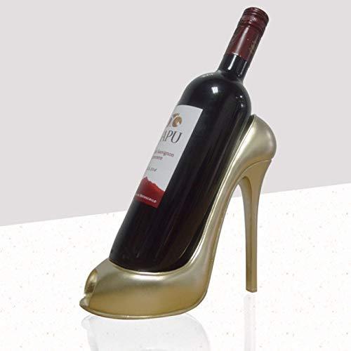 NYSYZSM Estante de Vino Zapato de tacón Alto Soporte de Botella de Vino Estante Elegante Cesta de Regalo Accesorios para el hogar Zapato Rojo Estante de Vino Creativo