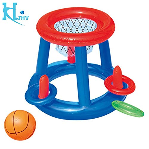 DJR Inflatable Floating, Hoops Basketball Pool Game Aufblasbares Poolspielzeug Schwimmendes Poolspiel Kinder Schwimmbad