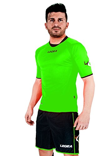 LEGEA Kit Cartagena Deportes Completas FÚTBOL Futsal Hombre Jugador (Verde Fluo, XL)