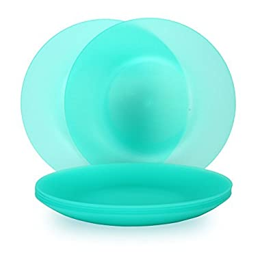 Coza Design- Unbreakable and Reusable Plastic Plate Set- BPA Free- Set of 6 (Green)